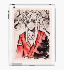 Inuyasha Ink Drawing iPad Case/Skin