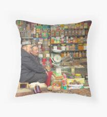 Kashgar, Old City, Store Throw Pillow