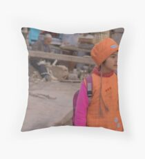 Kashgar, Young Uyghur Girl Throw Pillow