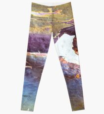Rainbow Sea Cliffs, Australia  Leggings