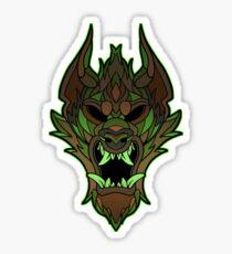 Timber Wolf Tiki Sticker