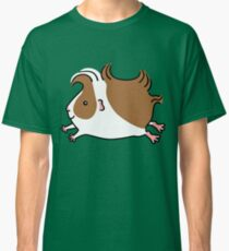 Leaping Guinea-pig ...Brown and White Classic T-Shirt