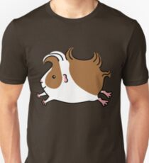 Leaping Guinea-pig ...Brown and White Unisex T-Shirt