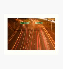 fast lane Art Print