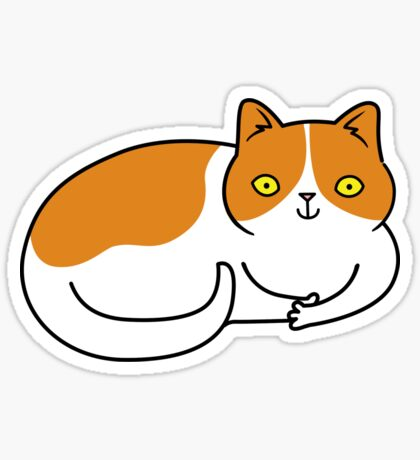Special Cat... Ginger and White Sticker