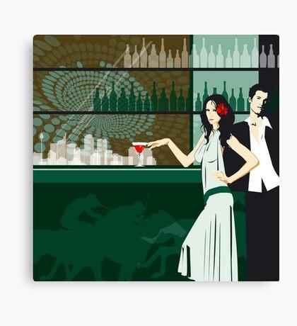 Cocktail bar Canvas Print