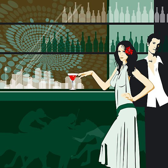Cocktail bar by Lara Allport