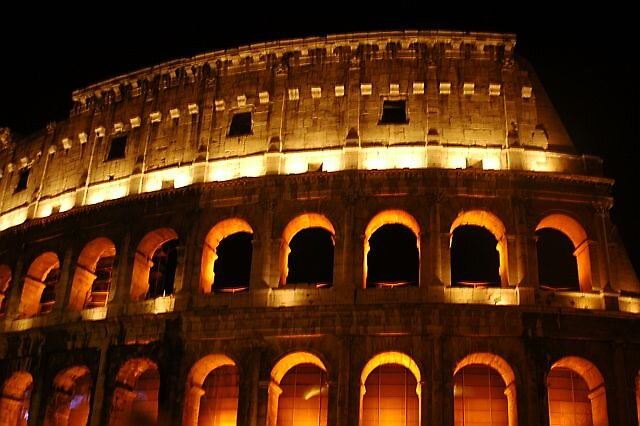 Colleseo Roma night shot by Brennen Cole