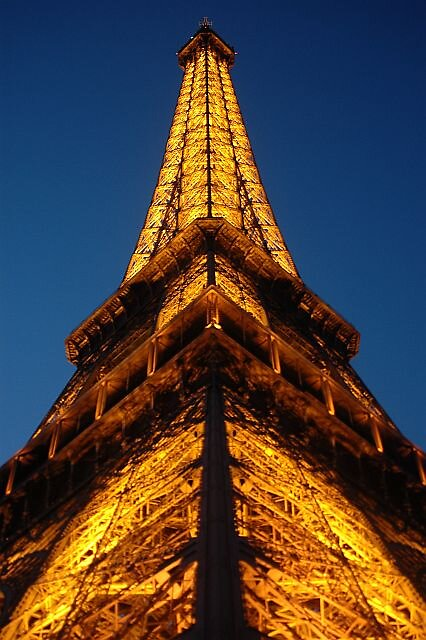 Eiffel Tower Night time by Brennen Cole