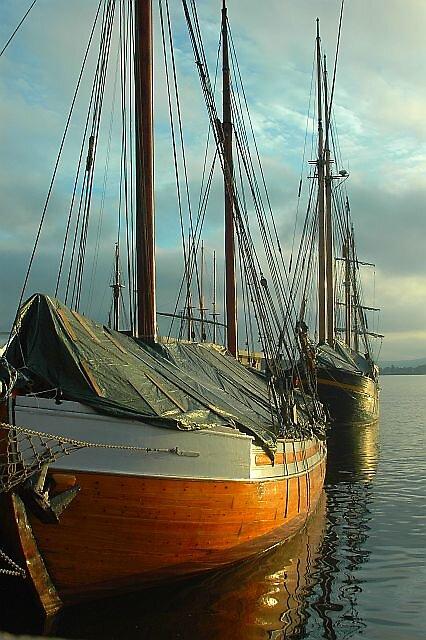Boats docked Oslo Norway by Brennen Cole