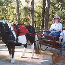 Grandma and Janis in the ponycart July 2004 by AnnH