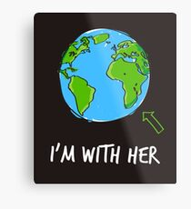 March For Science I'm With Her Metal Print