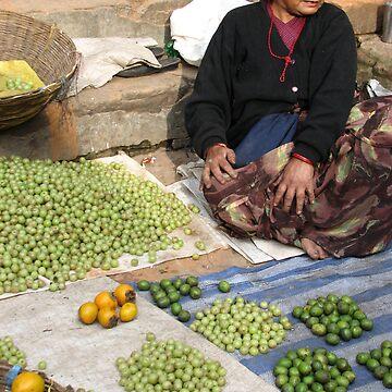 Kathmandu market by Rhona