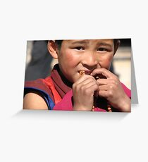 Young Monk Greeting Card