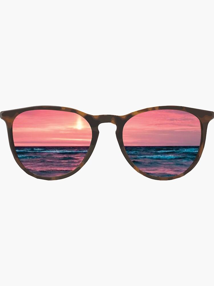 Sonnenbrille Strand Sonnenuntergang von cgidesign