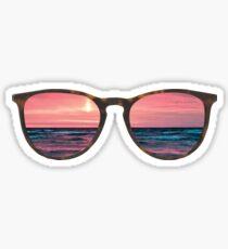 Pegatina gafas de sol playa atardecer