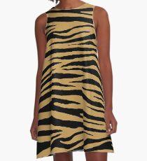 0615 Aztec Gold Tiger A-Line Dress
