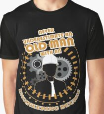Never Underestimate Old Engineering Graphic T-Shirt
