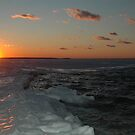 Sunset Southampton Peconic Bay winter by Brennen Cole