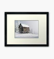 Snow Shack Framed Print