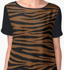0602 Russet Tiger Women's Chiffon Top