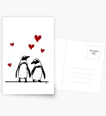 African Penguin Love Postcards