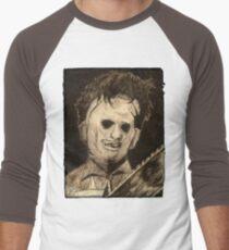 Leather face Horror Portrait  Men's Baseball ¾ T-Shirt