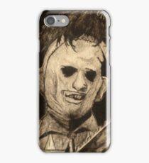 Leather face Horror Portrait  iPhone Case/Skin