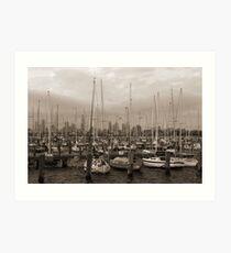 Sailing the Sepia Seas Art Print