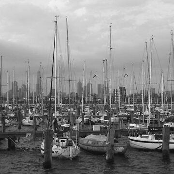 St Kilda Pier Boats by fotojux