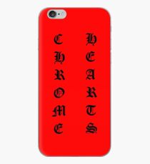 Vertical Chrome Hearts Red iPhone Case