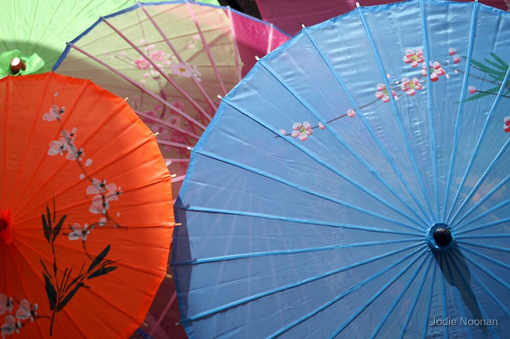 Umbrellas in the Sun by Jodie Noonan
