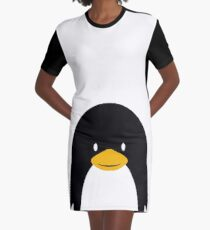 Penguin Graphic T-Shirt Dress