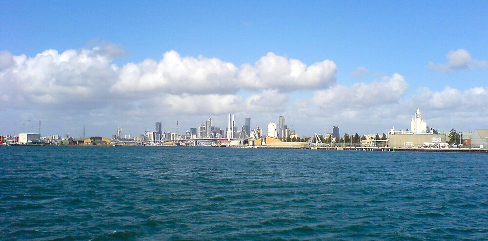 Melbourne from Port Phillip by Ameel Khan