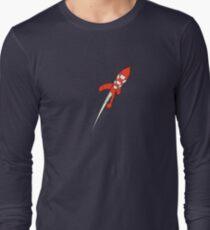 Tintin Destination Moon Rocket Long Sleeve T-Shirt