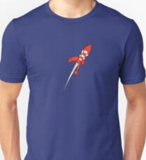 Tintin Destination Moon Rocket T-Shirt