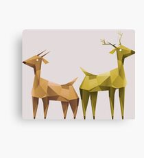 Geometric animals 1 Canvas Print