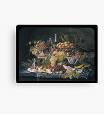 Still Life,  Fruit , Severin Roesen Canvas Print