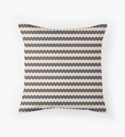 Champagne Scallops Throw Pillow