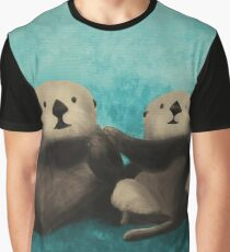 Sea Otters in Love Graphic T-Shirt