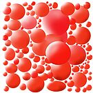 Red Bubbles for Red Bubble by Simon