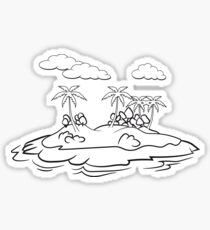 insel palmen  Sticker