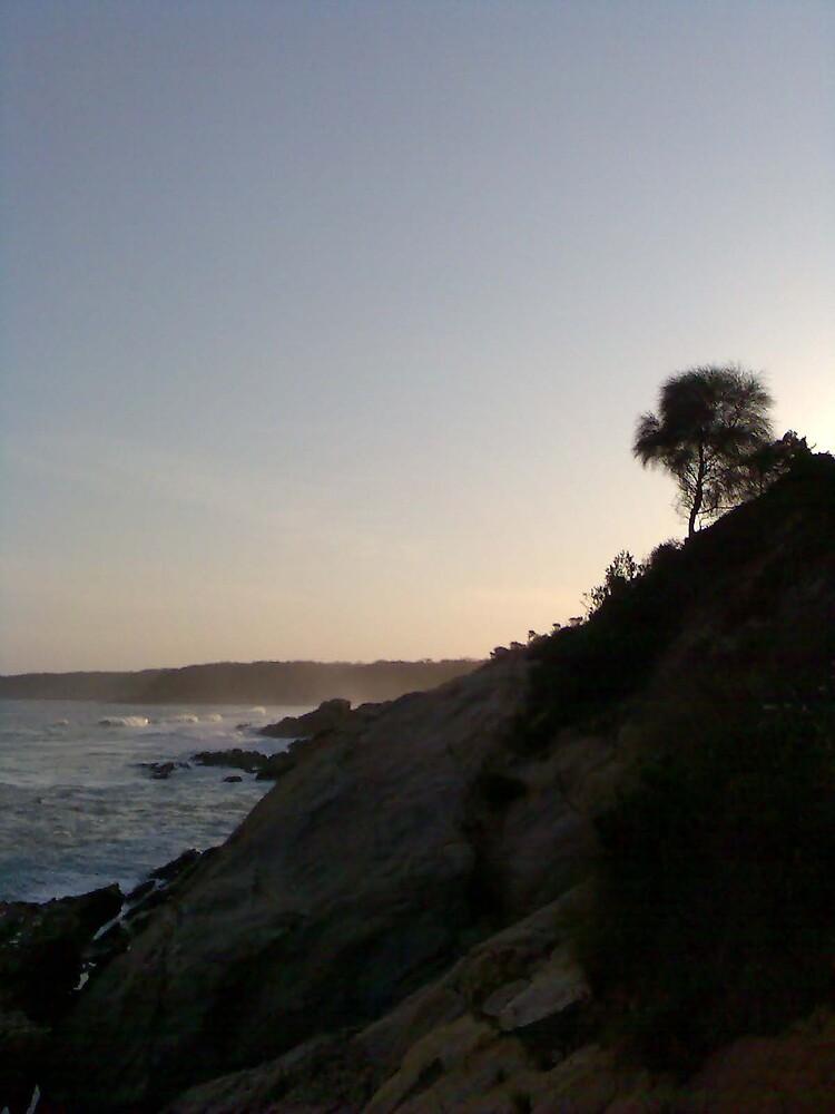 blue pool cliffs by megziep