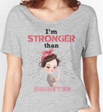 I'm stronger than diabetes - diabetics type 1 t1d awareness Women's Relaxed Fit T-Shirt