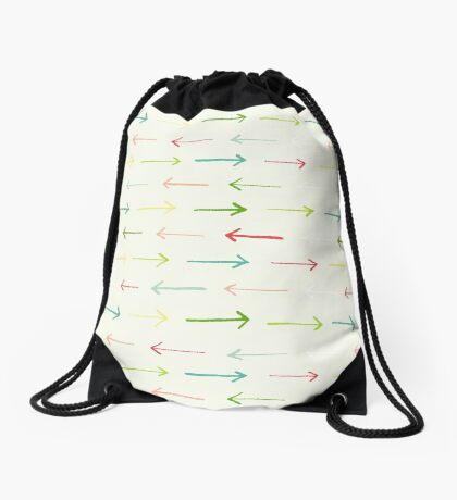 Colorful Happy Arrows Pattern Drawstring Bag