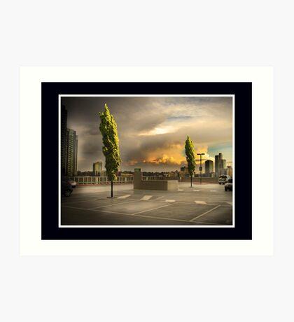 Carpark Green with Envy Art Print