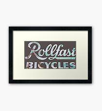 Rollfast Vintage Bicycles Sign Framed Print