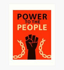 Power to the People Art Print