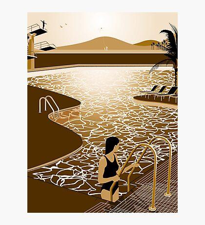 Poolside Photographic Print