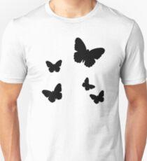 Black butterflies Unisex T-Shirt